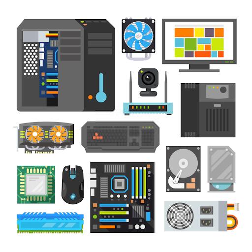 ما هي اجزاء الحاسوب وقطع الهاردوير
